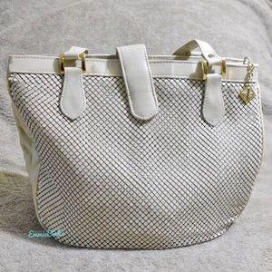 Vintage Whiting & Davis, White Metallic Mesh Bag